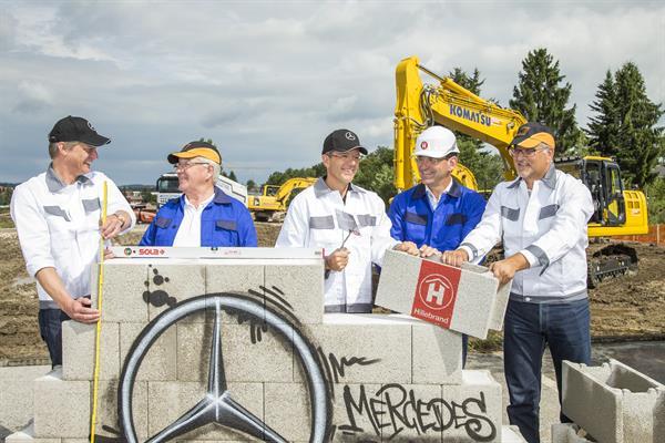 Spatenstich für neue Mercedes-Benz Österreichzentrale