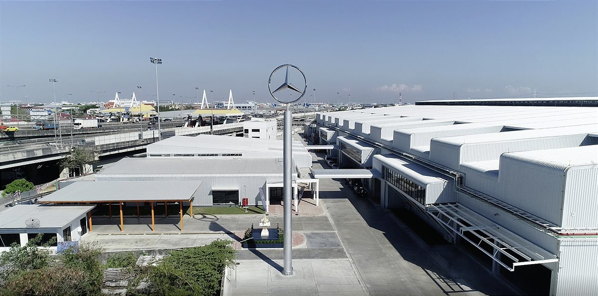 Mercedes-Benz Werk Bangkok, Thailand: Gemeinsam mit dem lokalen Partner Thonburi Automotive Assembly Plant (TAAP) hat Mercedes-Benz eine Batterieproduktion in Bangkok (Thailand) errichtet und 2019 den Betrieb aufgenommen. Der Standort fertigt Batteriesys